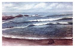 Painting of Pidgeon Point