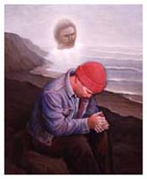 Painting of Man in Prayer